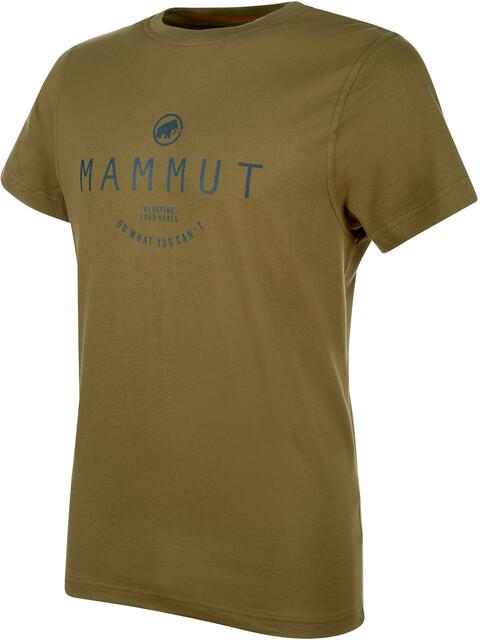 Mammut Seile t-shirt Heren olijf